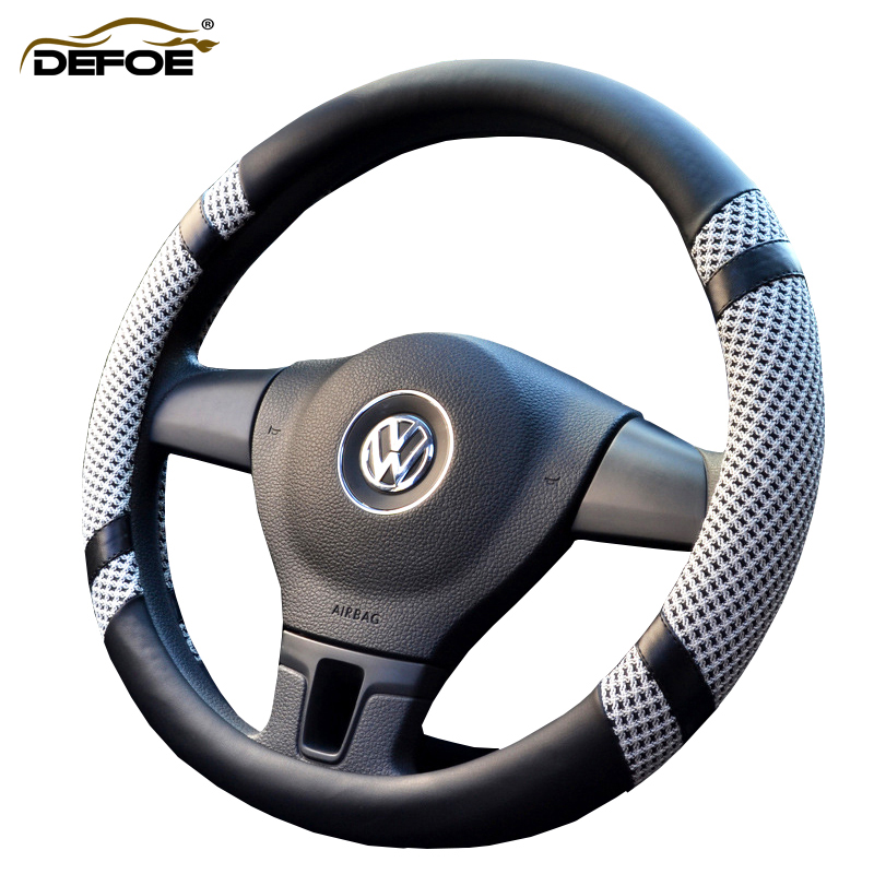 Nuevo estilo Summer Ice seda cubierta del volante del coche estilo del coche Respirable antideslizante volante 5 color elige la mejor calidad
