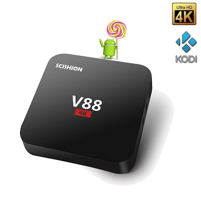 Wholesales V88 Android TV BOX Rockchip 3229 Quad Core Android 6 0 1G 8G 2 4G