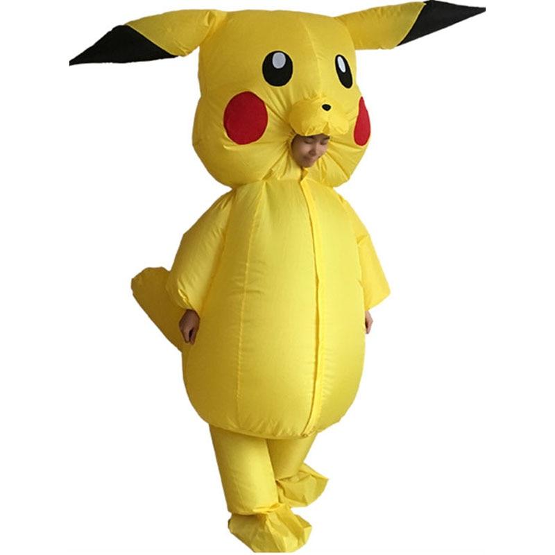 Adults Inflatable Pikachu Costume Pokemon Cosplay