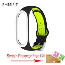 For Xiaomi Mi Band 4 Strap Smart Accessories Replacement Waterproof Double Color Silicone Bracelet For Mi Band4 NFC wrist strap