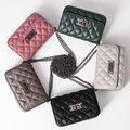 РОЗОВЫЙ известный дизайнер женщины кожа композитный цепи bolsa feminina sac главная роскошь плеча tote crossbody сумка сумка