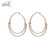 Badu Women Hoop Earring Big Round Geometry Hollowing Circle Earrings Exaggerated Fashion Gift for Girls Wholesale