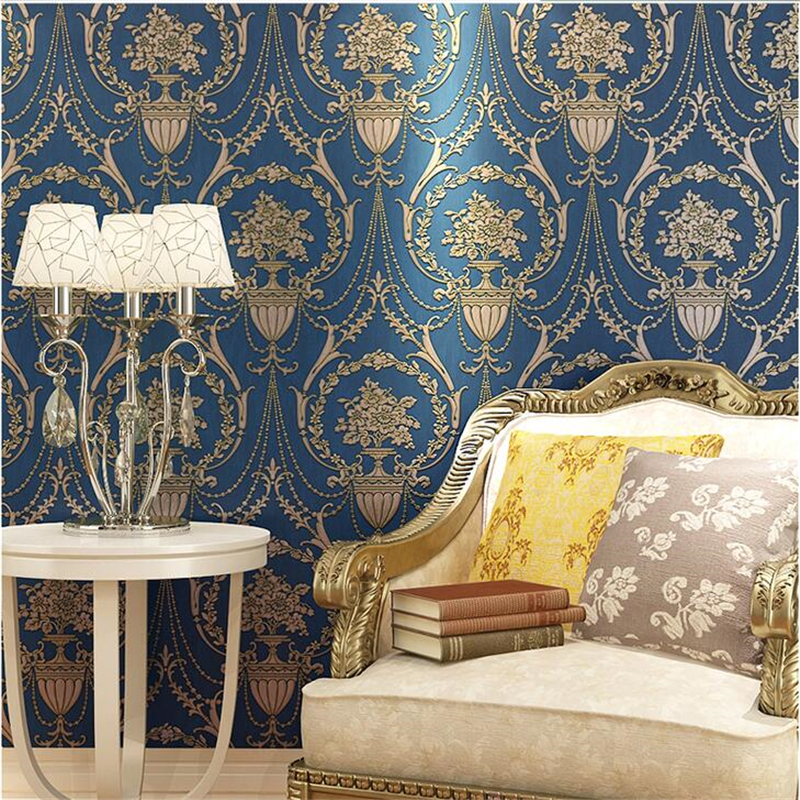 beibehang European high-end luxury wallpaper 3D relief metal iron living room TV background video wall paper ab papel de parede beibehang european pastoral relief wallpapers papel de parede 3d wall paper roll living room wallpaper for walls vinyl contact