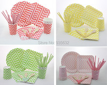 Paper Tableware Birhtday Wedding Party Supplies Disposable Paper Plates Party Paper Cups Napkins Straws