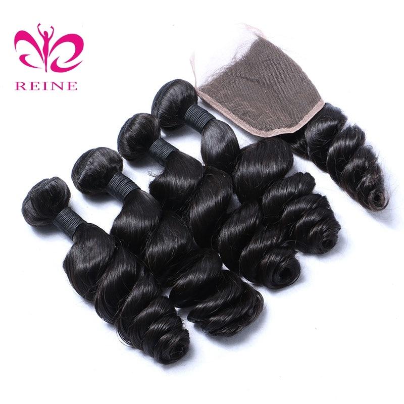 4 πακέτα με κλείσιμο χαλαρό κύμα - Ανθρώπινα μαλλιά (για μαύρο) - Φωτογραφία 3
