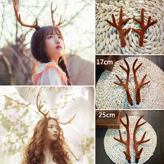 Large deer horn hair hoop easter show christmas gift party cosplay large deer horn hair hoop easter show christmas gift party cosplay headwear dance party hairbands diy negle Image collections