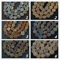 20 unids strand 10mm Titanium Druzy Natural Perforado Ronda Plana Perlas Colgantes, Brillante Ágata Primas Coin Pulsera Collar, más color