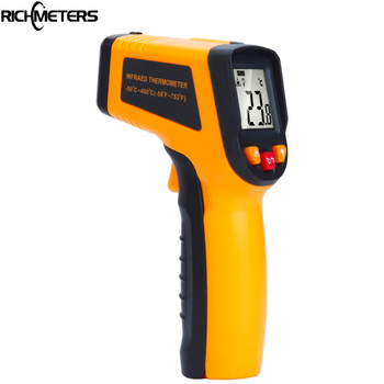 RICHMETERS 600 C Kỹ Thuật Số laser Hồng Ngoại Nhiệt Kế Súng Bắn Nhiệt Độ Nhạc Cụ Pyrometer