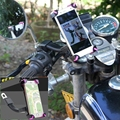 Universal Motorcycle Phone Holder Stand For Samsung Galaxy Note 4 5 J7 J5 A3 A5 A7 On5 On7 C5 C7 Motorbike Rearview Mirror Mount