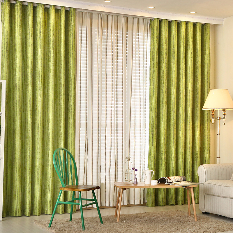 Window curtains for living room bedroom modern brief green for Green modern curtains