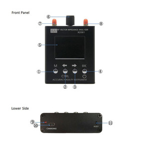 Image 5 - Антивандальный анализатор коротких волн N2061SA, английская версия, 1,1 МГц ~ 1300 МГц, УФ, рчид