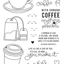 Coffee cup stamp Clear Stamp for Scrapbooking Transparent Silicone Rubber DIY Photo Album Decor 523