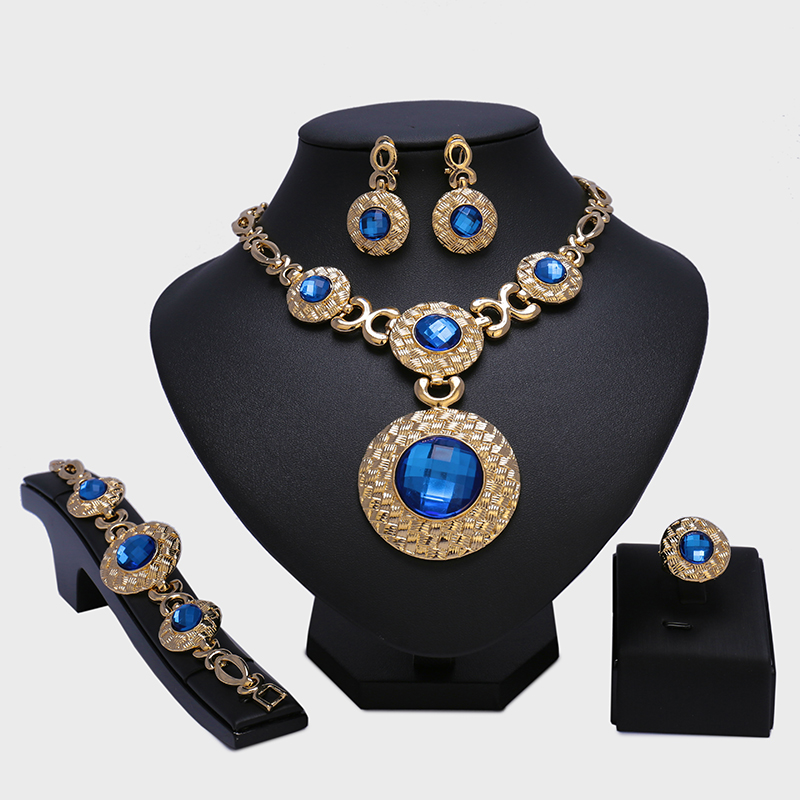2017 Wholesale Fashion Dubai Gold Color Jewelry Sets