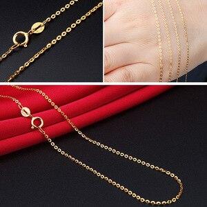 Image 3 - DAIMI Echt 18 K Wit Gouden Ketting Ketting Hanger 18 inch au750 Sieraden Ketting Vrouwen Fijne Gift Groothandel