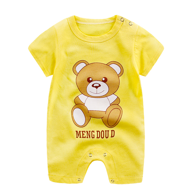 baby clothes 100% cotton short sleeve summer girls boys rompers toddler infant 0-18 months clothes 3