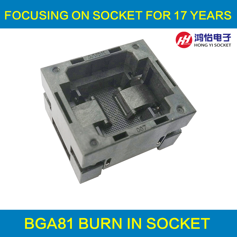 BGA81 OPEN TOP Burn in socket pitch 1.0mm IC size 8*8mm BGA81(8*8)-1.0-TP01/50N BGA81 VFBGA81 burn in programmer socket bga80 open top burn in socket pitch 0 8mm ic size 7 9mm bga80 7 9 0 8 tp01nt bga80 vfbga80 burn in programmer socket