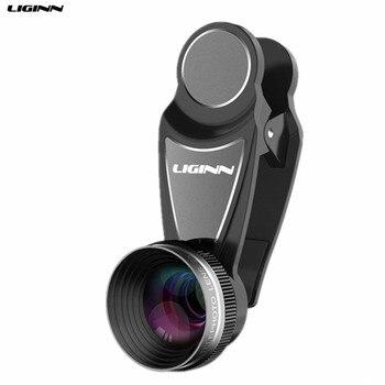 LIGINN 2X Telefoto Zoom Óptico Lente Da Câmera Do Telefone Móvel lente Do Telescópio Para o iphone 6 8 7 Samsung Note8 S8 S9 smartphones L-112