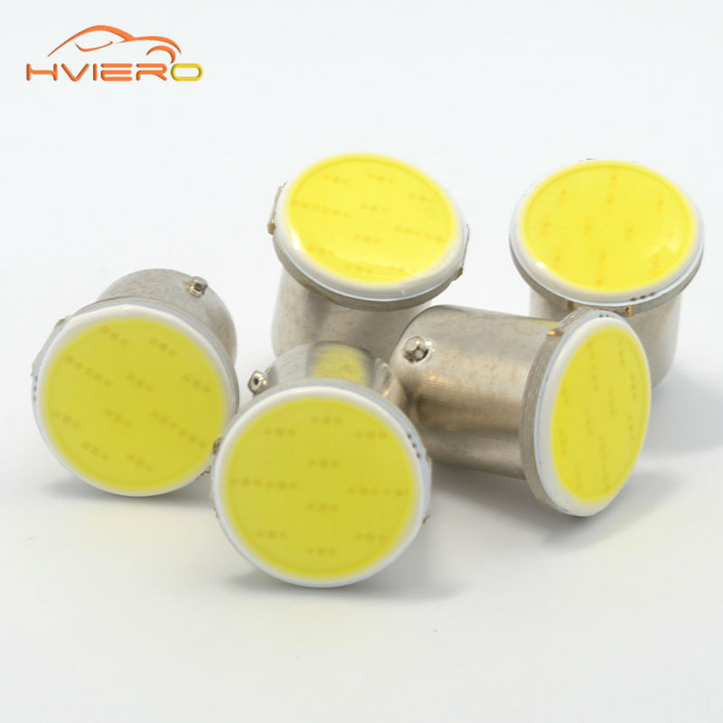 White 10pcs Cob P21w 12Led 12smd 1156 Ba15s 1157 BA15D DC 12v Bulbs Rv Trailer Truck Car Styling Light Parking Auto Lamp