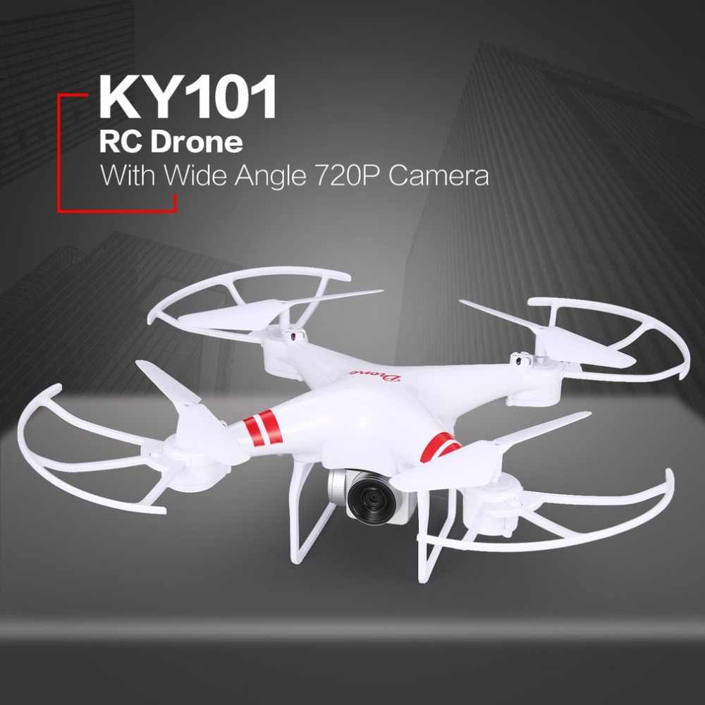 KY101 RC Drone With Camera HD 720P/1080P Wide Angle Selfie Drone Professional Foldable Quadcopter Headless One Key Return Drones