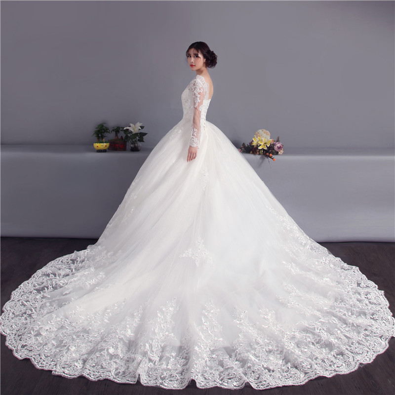 Selling Wedding Gowns: Robe De Mariage 2019 Best Selling White A Line Cathedral
