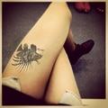 Princesa dulce pantimedias lolita del modelo del carácter feroz león fish fake tattoo impresión panti LKW135