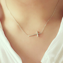 Simple 925 Sterling Silver Vintage Cross Choker Maxi Necklace For Women Girl Sterling-silver-jewelry colar collier femme N44