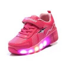 2016 New Summer Child LED Light shoes Roller Skate Shoes For Girls Kids Boys Led Sneakers