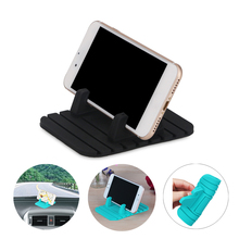 Soft Silicone Mobile Phone Holder Car Dashboard GPS Anti Slip Mat Desktop Stand Bracket for iPhone X Samsung Tablet