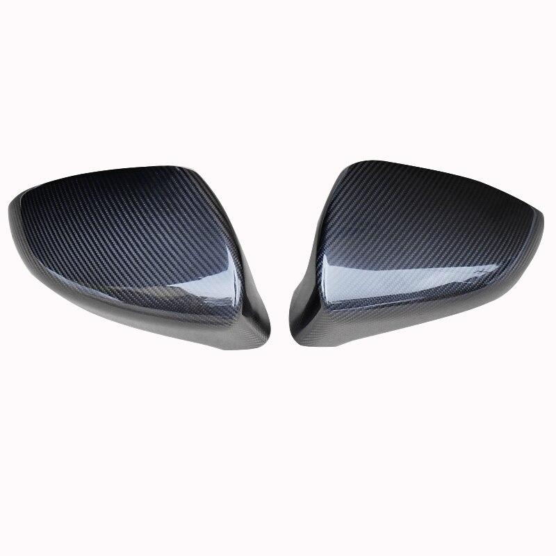 QHCP 1Pair Real Carbon Fiber Car Rearview Mirror Cover Caps Protection Shell Decoration For Lexus ES200