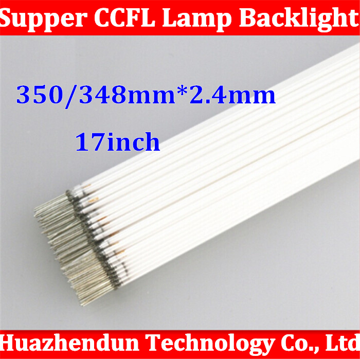 50pcs/lot Free Shipping Supper Light CCFL 350 mm * 2.5 mm 17 4:3 LCD Backlight Lamp 348mm*2.5mm