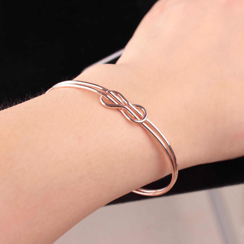 Bangle Infinite Bracelet For Women Bracelets & Bangles Pulseiras Titanium Steel Hand Made Knot Cuff Bracelet