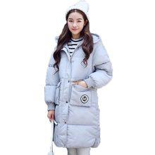 2016 зима теплая Ватные Куртки пальто женщин мода тонкий с капюшоном толстые большой карман свободные плюс sizelong вниз хлопка Парки AE1583