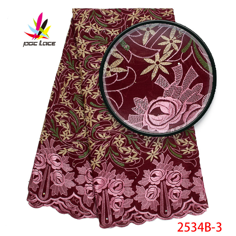 Beautiful Nigerian Lace Cotton Lace Fabric 2019 High Quality Swiss Voile Lace Fabric French Cotton Lace