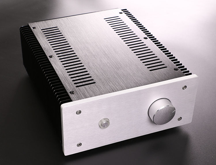 ha outside the side of the heat sink a power amplifier chassis small armor shell aluminum. Black Bedroom Furniture Sets. Home Design Ideas