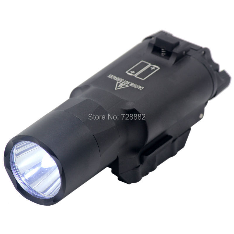 Tactical Flashlight Ultra X300 LED Weapon Light Torch with 20mm Weaver Rail Mount For Rifle Scope Handguns with Picatinny hot sale new tactical flashlight x300 ultra led weapon light for hunting for shooting cl15 0040