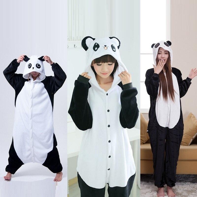 3e6a761fd7 Cute Cartoon Kigurumi Panda Long Sleeve Hooded Onesie Adult Women Animal  Lovely Red eyes  Kungfu Panda Pajamas