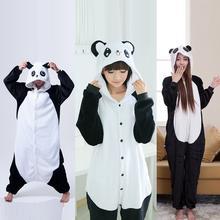 Cute Cartoon Kigurumi Panda Long Sleeve Hooded Onesie Adult Women Animal Lovely/Red eyes/ Kungfu Panda Pajamas