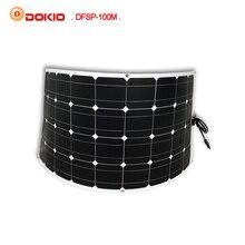 Dokio Marca 100 W Monocristalino Del Panel Solar Célula Solar Flexible para el Coche/Barco/Barco de Vapor 12 V 24 Voltios Batería Solar de 100 Vatios