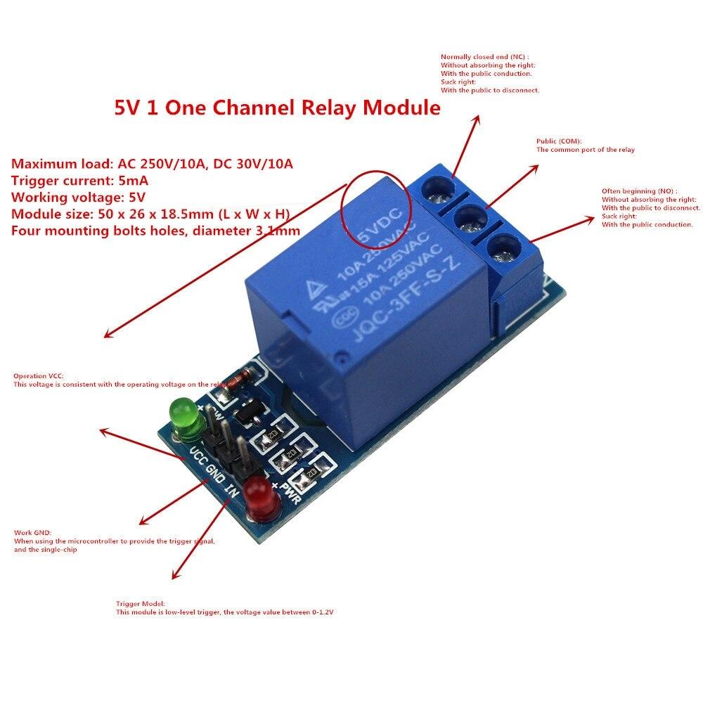 Ice Cube Relay 24 Volt Diagram Arduino Diy Kit 용 Scm 가정용 기기 제어용 5 V 1 채널 릴레이 모듈 저수준 에서