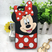 3D Cartoon Mickey Minnie Mouse Silicone Case For Coque Huawei P8 lite 2017 P9 lite P10 p20 Y5 Y6 Y7 Y9 2018 Cover phone cases
