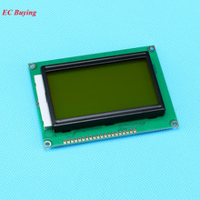 12864 LCD Display Module 5V LCD Display Yellow Green Screen Universal LCD Controller Black Character Backlight ST7920 128*64