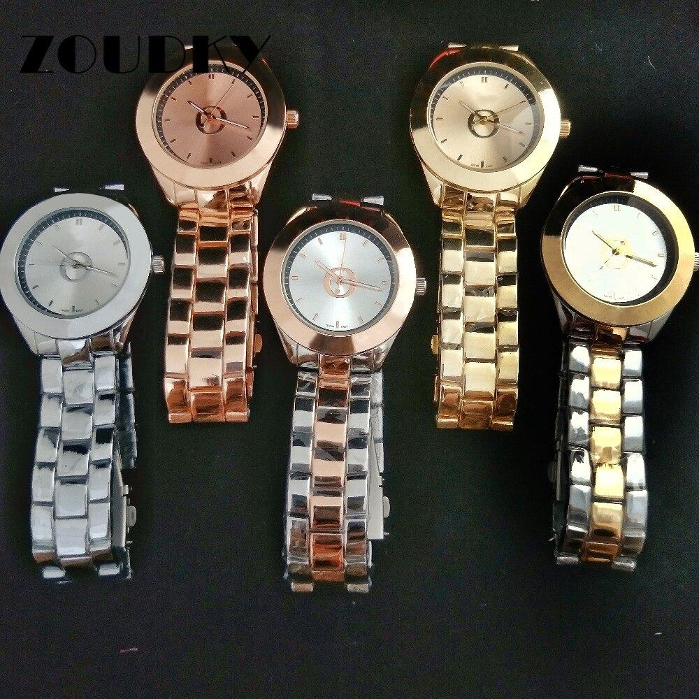 c1025f704a86 Cheap ZOUDKY de acero inoxidable de las mujeres de los hombres parejas  relojes de cuarzo joyería