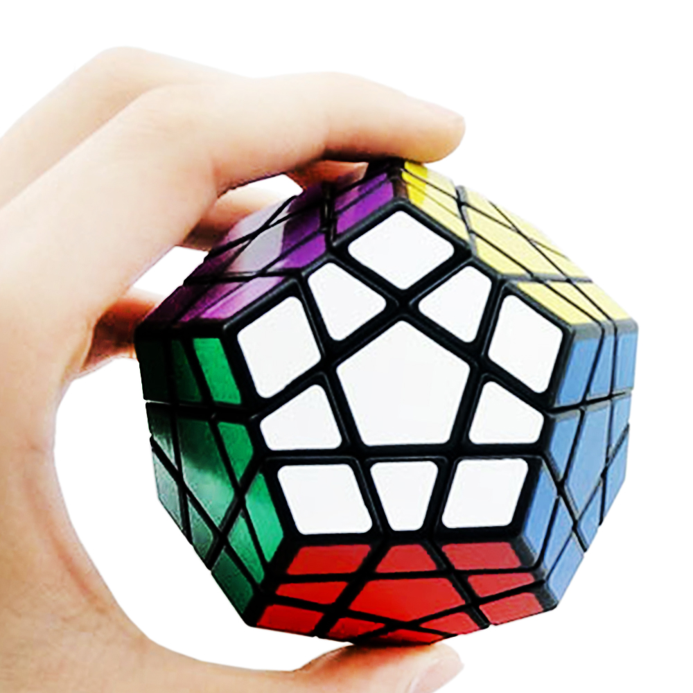 ShengShou's 3*3 Megaminx Magic Rubix Rubic Cube Toy for Kids 3x5x12 Cubo Megico  3*5*12 Sides Black White