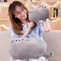 25cm Cute Plush Cat Toys Soft Pillow Stuffed Animal Cat Cushion Pushin Cat with Kitten Doll Kids Baby Birthday Gift Push een Toy
