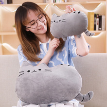 Peluche de gato Pushin de 25cm para niñas, juguete suave relleno de animales, almohada de gato, regalo
