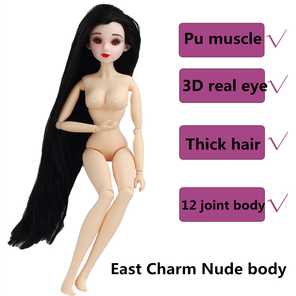 Fortune Days East Charm ancient costume doll 1/6 like BJD Blyth dolls Nude Body sdsee Doll head DIY High Quality gift
