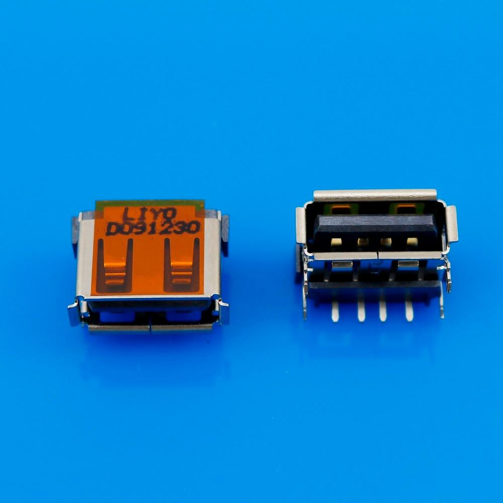 1x New USB 2.0 USB Connector USB JACK for DELL Lenovo ASUS MSI HP Toshiba ...Laptops USB Copper sheet upward US-052