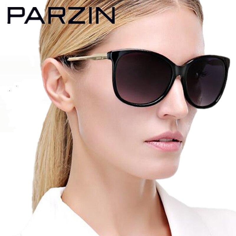PARZIN Handmade Polarized Sunglasses Women UV 400 Female  Driving Sun Glasses Elegant Lunette De Soleil With Case Black 9625