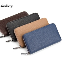 Baellerry Luxury Brand Business Men Wallets Long PU Men S Leather Cell Phone Clutch Purse Handy