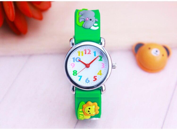 Children's Gift Watch Quartz 3D Strap Cartoon Animal Watch Pointer Fashion Electronic Waterproof Watch Children's Watch